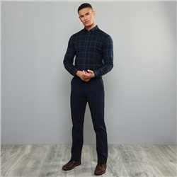 Magee 1866 Navy Callan Washed Look Tailored Fit Trousers