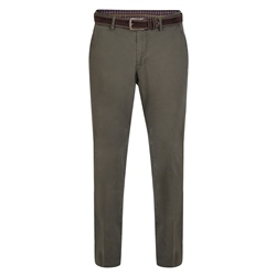 Magee 1866 Olive Callan Washed Look Tailored Fit Trousers