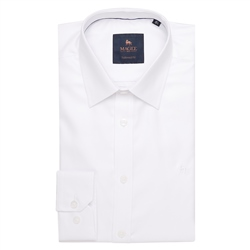 Magee 1866 White Formal Dress Collar Tailored Fit Shirt