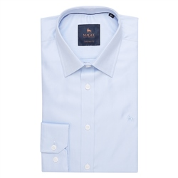 Magee 1866 Blue Formal Dress Collar Tailored Fit Shirt