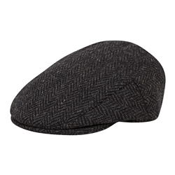 Magee 1866 Grey Herringbone Donegal Tweed Flat Cap
