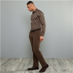 Magee 1866 Brown Dungloe Mill-Washed Classic Fit Trouser