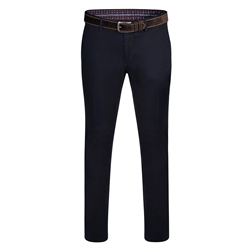Magee 1866 Dark Navy Dungloe Washed Look Classic Fit Trouser