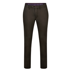 Dark Grey Dungloe Washed Classic Fit Trouser