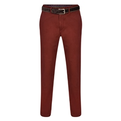 Maroon Dungloe Washed Classic Fit Trouser