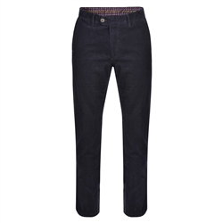 Magee 1866 Navy Dungloe Needle Cord Classic Fit Trousers