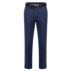 Magee 1866 Navy Dungloe Washed Look Classic Fit Trouser