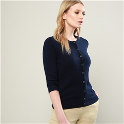 Navy Beatrice Cashmere Blend Cardigan