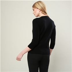 Black Beatrice Cashmere Blend Cardigan