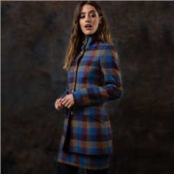 Magee 1866 Patchwork Linsford Herringbone Donegal Tweed Coat