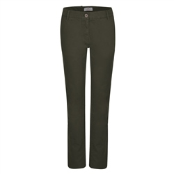 Magee 1866 Olive Sandy Washed Look Tailored Fit Trousers