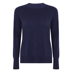 Navy Iris Liberty Print Panel & Cashmere Blend Jumper