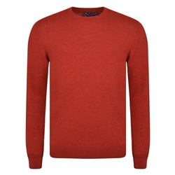 Magee 1866 Red Lunnaigh Lambswool Crew-Neck Jumper