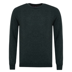 Magee 1866 Green Lunnaigh Lambswool Crew-Neck Jumper
