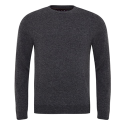 Magee 1866 Charcoal Lunnaigh Lambswool Crew-Neck Jumper