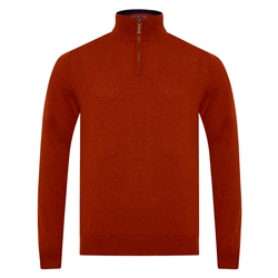 Magee 1866 Red Lunnaigh Lambswool 1/4 Zip