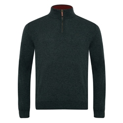 Magee 1866 Green Lunnaigh Lambswool 1/4 Zip