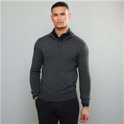 Magee 1866 Charcoal Lunnaigh Lambswool 1/4 Zip