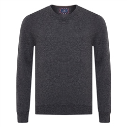 Magee 1866 Charcoal Lunnaigh Lambswool V-Neck Jumper