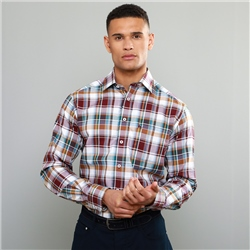 Magee 1866 Multi-coloured Tullagh Button Down Classic Fit Shirt