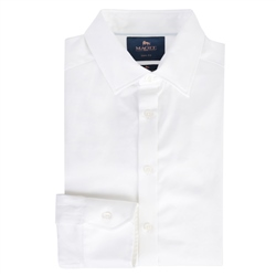 Magee 1866 White Garvagh Slim Fit Formal Shirt