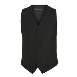 Magee 1866 Black Classic Fit Morning Vest