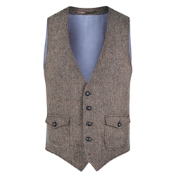 Magee 1866 Oat Easky Donegal Tweed Vintage Classic Fit Waistcoat