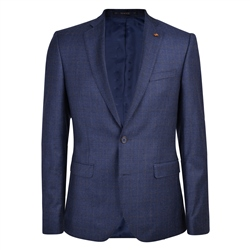 Navy & Brown Prince of Wales Check 3-Piece Tailored Fit Suit