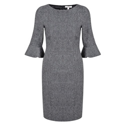Magee 1866 Grey Wool Martha Dress