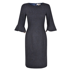 Magee 1866 Navy Salt & Pepper Martha Dress