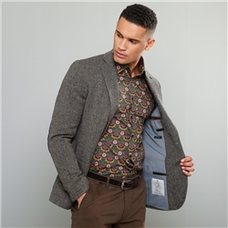 Magee 1866 Oat Easky Herringbone Donegal Tweed Vintage Classic Fit Jacket