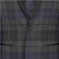 Black Watch Shawl Collar Tailored Fit Dinner Jacket
