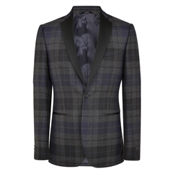 Magee 1866 Black Watch Shawl Collar Tailored Fit Dinner Jacket