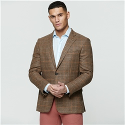 Multi-coloured Glen Check Donegal Tweed Classic Fit Jacket