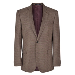 Houndstooth Checked Donegal Tweed Classic Fit Jacket