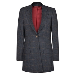 Magee 1866 Grey Moyne Checked Donegal Tweed Jacket