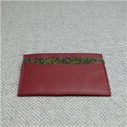 Green Donegal Tweed Salt & Pepper Magee Card Holder