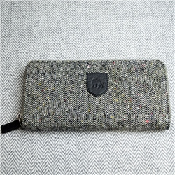 Grey Donegal Tweed Salt & Pepper Magee Wallet
