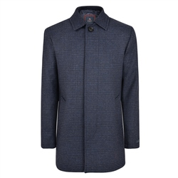 Navy Edergole Glen Check Coat