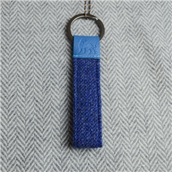 Magee 1866 Blue Donegal Tweed Salt & Pepper Magee Keyring