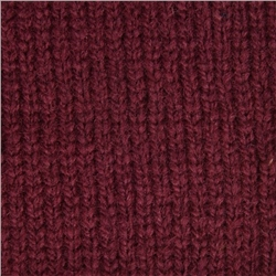 Maroon Breen Rib & Cable Lambswool Crew Neck Jumper