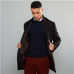 Magee 1866 Brown Liskeeran Two-Tone Twill Car Coat