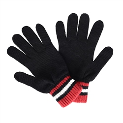 Magee 1866 Cashmere Blend Gloves in Black, Red and White