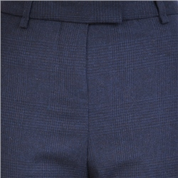 Navy Aria Check Trousers
