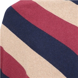 Navy, Red & Beige Leah Stripe Poncho