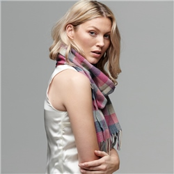 Luxury Pink Herringbone Patchwork Scarf