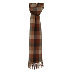 Magee 1866 Orange Herringbone Patchwork Scarf