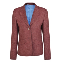 Magee 1866 Raspberry Alicia Herringbone Donegal Tweed Jacket