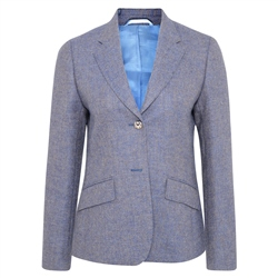 Magee 1866 Blue Alicia Herringbone Donegal Tweed Jacket