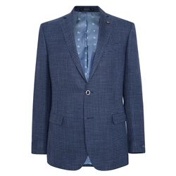 Magee 1866 Navy Grid Design Classic Fit Jacket